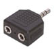 3.5mm Stereo Plug (Male) to 2 x Jack (Female) Y Adapter