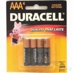 DURACELL Alkaline Battery 4 Pack - AAA