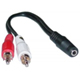 3.5mm Stereo Jack/Female to 2 x RCA Plug/Male Adapter  0.13M