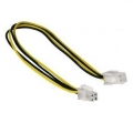 4 Pin ATX Power Extension Cord, Male to Female, 20cm