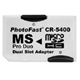 PhotoFast CR-5400 Dual Slot Micro SD/SDHC to MS Pro Duo Adapter (Convert Max. 2 x 16GB  MicroSD/SDHC cards to 32GB MS Pro Duo) Powersonic exclusive