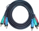 Component Video Cable High Quality RGB Plug to RGB Plug   7.5M/25FT