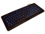 W-9868 Multimedia LED Luminescent USB Keyboard, Black