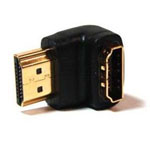 HDMI to HDMI Adapter, Male to Female 90 Degree