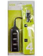 HIGH QUALITY HIGH SPEED 4 PORT USB 2.0 HUB FOR LAPTOP DESKTOP
