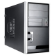 In-Win Case EM013.T350SL microATX Mini Tower Black/Silver 350W 2/2/(2)Bays (USB2.0) HD Audio