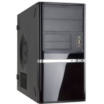 In-Win Case IW-Z638.CH350TB3 Mini Tower 2/2/(1) Bay USB 3.0 Audio Slim 350W Black microATX