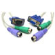 KVM 3-in-1 Cable HD15M/F+MD6M*2 M/M   2M