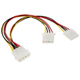 MOLEX 4 Pin Male to Dual MOLEX 4 Pin Female Power Splitter