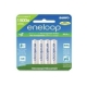 SANYO ENELOOP AAA 4PACK 800MAH RECHARGEABLE UP TO 1500X