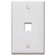 Keystone Wall Plate, White - 1 Port