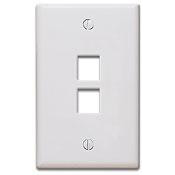Keystone Wall Plate, White - 2 Port