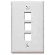 Keystone Wall Plate, White - 3 Port