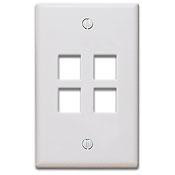 Keystone Wall Plate, White - 4 Port
