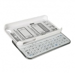 iPHONE 4/4S MINI BLUETOOTH SLIDING KEYBOARD with HARD SHELL CASE (WHITE)